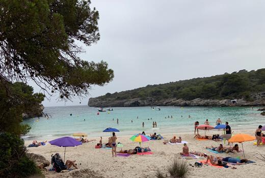 Baden in den Buchten von Menorca